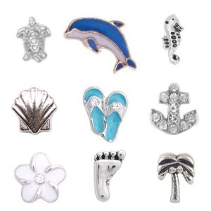 Totem Lockets | Floating Charms | Surfer Collection