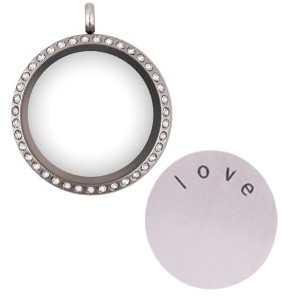 Totem Lockets | Floating Charm Lockets | Locket & Disc Set