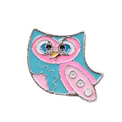 Floating Charm - Painted Owl | Animal Charm| Animal Floating Charm | Totem Lockets | Floating Charm Lockets