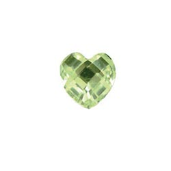 Accent Stone - Light Green Heart | Accent Stone | Accent Stone Charm| Birthstone Floating Charm | Totem Lockets | Floating Charm Lockets