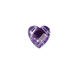 Accent Stone - Purple Heart | Accent Stone | Accent Stone Charm| Birthstone Floating Charm | Totem Lockets | Floating Charm Lockets