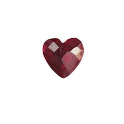 Accent Stone - Deep Red Heart | Accent Stone | Accent Stone Charm| Birthstone Floating Charm | Totem Lockets | Floating Charm Lockets