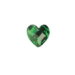 Accent Stone - Green Heart | Accent Stone | Accent Stone Charm| Birthstone Floating Charm | Totem Lockets | Floating Charm Lockets