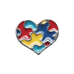 Floating Charm - Autism Heart | Causes Charm| Causes Floating Charm | Charity Charm| Charity Floating Charm | Totem Lockets | Floating Charm Lockets
