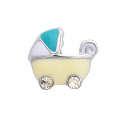 Floating Charm - Baby Girl or Baby Boy Pram | Celebration Charm| Celebration Floating Charm | Totem Lockets | Floating Charm Lockets