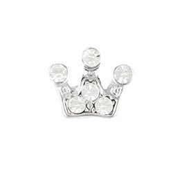 Floating Charm - Crystal Princess Crown | Celebration Charm| Celebration Floating Charm | Totem Lockets | Floating Charm Lockets