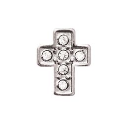 Floating Charm - Crystal Cross | Silver | Faith Charm| Faith Floating Charm | Religious Charm| Religious Floating Charm | Totem Lockets | Floating Charm Lockets
