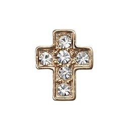 Floating Charm - Crystal Cross | Gold | Faith Charm| Faith Floating Charm | Religious Charm| Religious Floating Charm | Totem Lockets | Floating Charm Lockets
