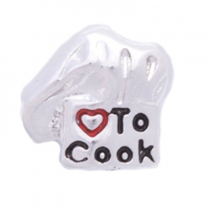 Floating Charm - Love to Cook | Hobby Charm| Hobby Floating Charm | Totem Lockets | Floating Charm Lockets