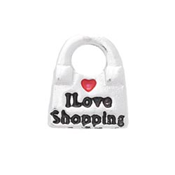 Floating Charm - I Love Shopping | Hobby Charm| Hobby Floating Charm | Totem Lockets | Floating Charm Lockets