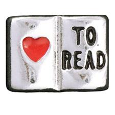Floating Charm - Love to Read Book | Hobby Charm| Hobby Floating Charm | Totem Lockets | Floating Charm Lockets