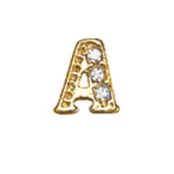 Floating Charm - A | Gold | Alphabet Charm| Alphabetical Floating Charm | Letter Charm| Initials Floating Charm |Totem Lockets | Floating Charm Lockets