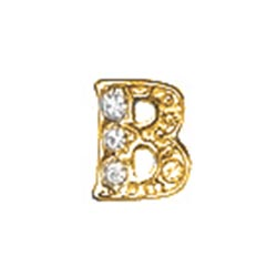Floating Charm - B | Gold | Alphabet Charm| Alphabetical Floating Charm | Letter Charm| Initials Floating Charm |Totem Lockets | Floating Charm Lockets