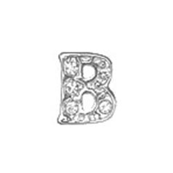Floating Charm - B | Silver| Alphabet Charm| Alphabetical Floating Charm | Letter Charm| Initials Floating Charm |Totem Lockets | Floating Charm Lockets