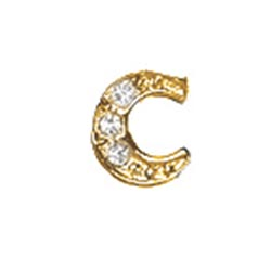Floating Charm - C | Gold | Alphabet Charm| Alphabetical Floating Charm | Letter Charm| Initials Floating Charm |Totem Lockets | Floating Charm Lockets