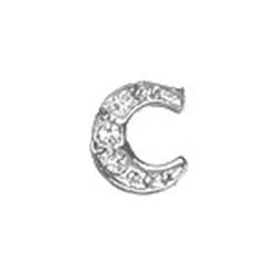 Floating Charm - C | Silver| Alphabet Charm| Alphabetical Floating Charm | Letter Charm| Initials Floating Charm |Totem Lockets | Floating Charm Lockets