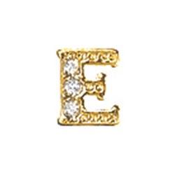 Floating Charm - E   Gold   Alphabet Charm  Alphabetical Floating Charm   Letter Charm  Initials Floating Charm  Totem Lockets   Floating Charm Lockets