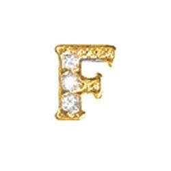 Floating Charm - F   Gold   Alphabet Charm  Alphabetical Floating Charm   Letter Charm  Initials Floating Charm  Totem Lockets   Floating Charm Lockets