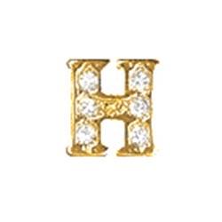 Floating Charm - H   Gold   Alphabet Charm  Alphabetical Floating Charm   Letter Charm  Initials Floating Charm  Totem Lockets   Floating Charm Lockets