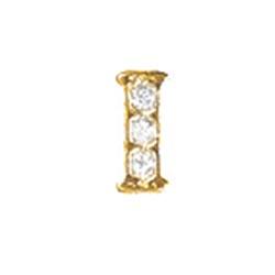 Floating Charm - I   Gold   Alphabet Charm  Alphabetical Floating Charm   Letter Charm  Initials Floating Charm  Totem Lockets   Floating Charm Lockets