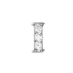 Floating Charm - I   Silver  Alphabet Charm  Alphabetical Floating Charm   Letter Charm  Initials Floating Charm  Totem Lockets   Floating Charm Lockets