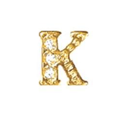 Floating Charm - K   Gold   Alphabet Charm  Alphabetical Floating Charm   Letter Charm  Initials Floating Charm  Totem Lockets   Floating Charm Lockets