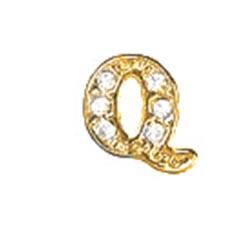Floating Charm - Q   Gold   Alphabet Charm  Alphabetical Floating Charm   Letter Charm  Initials Floating Charm  Totem Lockets   Floating Charm Lockets