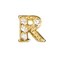 Floating Charm - R   Gold   Alphabet Charm  Alphabetical Floating Charm   Letter Charm  Initials Floating Charm  Totem Lockets   Floating Charm Lockets