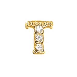 Floating Charm - T   Gold   Alphabet Charm  Alphabetical Floating Charm   Letter Charm  Initials Floating Charm  Totem Lockets   Floating Charm Lockets