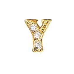 Floating Charm - Y   Gold   Alphabet Charm  Alphabetical Floating Charm   Letter Charm  Initials Floating Charm  Totem Lockets   Floating Charm Lockets