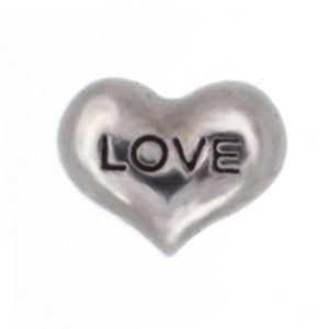 Floating Charm - Silver Love Heart | Love Charm| Love Floating Charm | Totem Lockets | Floating Charm Lockets