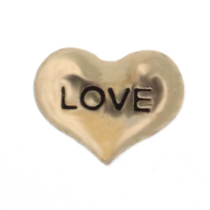 Floating Charm - Gold Love Heart | Love Charm| Love Floating Charm | Totem Lockets | Floating Charm Lockets