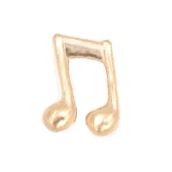 Floating Charm - Music Note | Gold| Music Charm| Music Floating Charm | Totem Lockets | Floating Charm Lockets