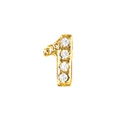 Floating Charm - Number 1 | Gold | Number Charm| Numerical Floating Charm | Totem Lockets | Floating Charm Lockets