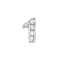Floating Charm - Number 1 | Silver| Number Charm| Numerical Floating Charm | Totem Lockets | Floating Charm Lockets