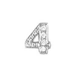 Floating Charm - Number 4 | Silver| Number Charm| Numerical Floating Charm | Totem Lockets | Floating Charm Lockets