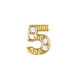 Floating Charm - Number 5 | Gold | Number Charm| Numerical Floating Charm | Totem Lockets | Floating Charm Lockets