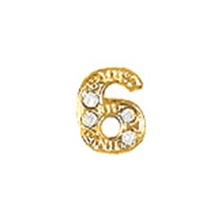 Floating Charm - Number 6 | Gold | Number Charm| Numerical Floating Charm | Totem Lockets | Floating Charm Lockets