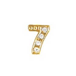 Floating Charm - Number 7 | Gold | Number Charm| Numerical Floating Charm | Totem Lockets | Floating Charm Lockets