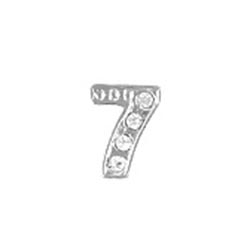 Floating Charm - Number 7 | Silver| Number Charm| Numerical Floating Charm | Totem Lockets | Floating Charm Lockets