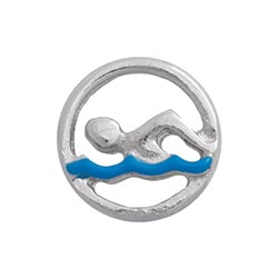 Floating Charm - Swimming | Sports Charm| Sport Floating Charm | Totem Lockets | Floating Charm Lockets