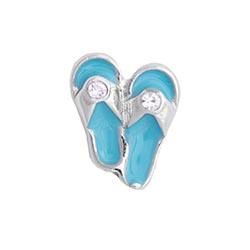 Floating Charm - Flip Flops | Sandals | Travel Charm| Travel Floating Charm | Totem Lockets | Floating Charm Lockets