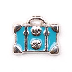 Floating Charm - Suitcase | Luggage | Travel Charm| Travel Floating Charm | Totem Lockets | Floating Charm Lockets