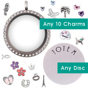 Totem Lockets | Floating Charm Lockets | Completed Set
